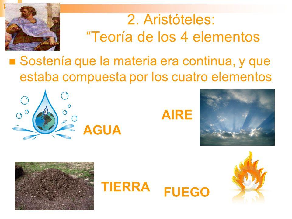 2. Aristóteles: Teoría de los 4 elementos