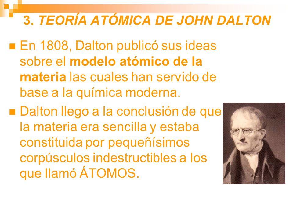 3. TEORÍA ATÓMICA DE JOHN DALTON