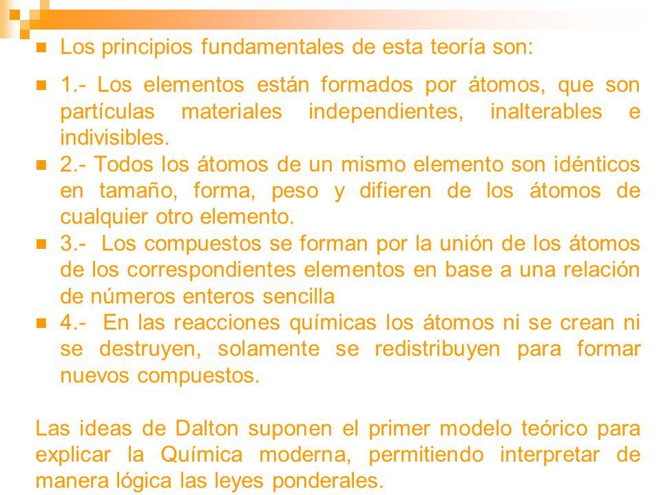 Los principios fundamentales de esta teoría son: