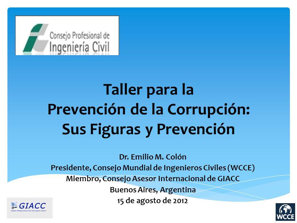 Taller para la Prevención de la Corrupción: Sus Figuras y Prevención