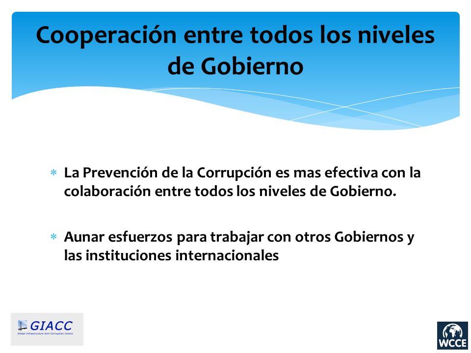 Cooperación entre todos los niveles de Gobierno