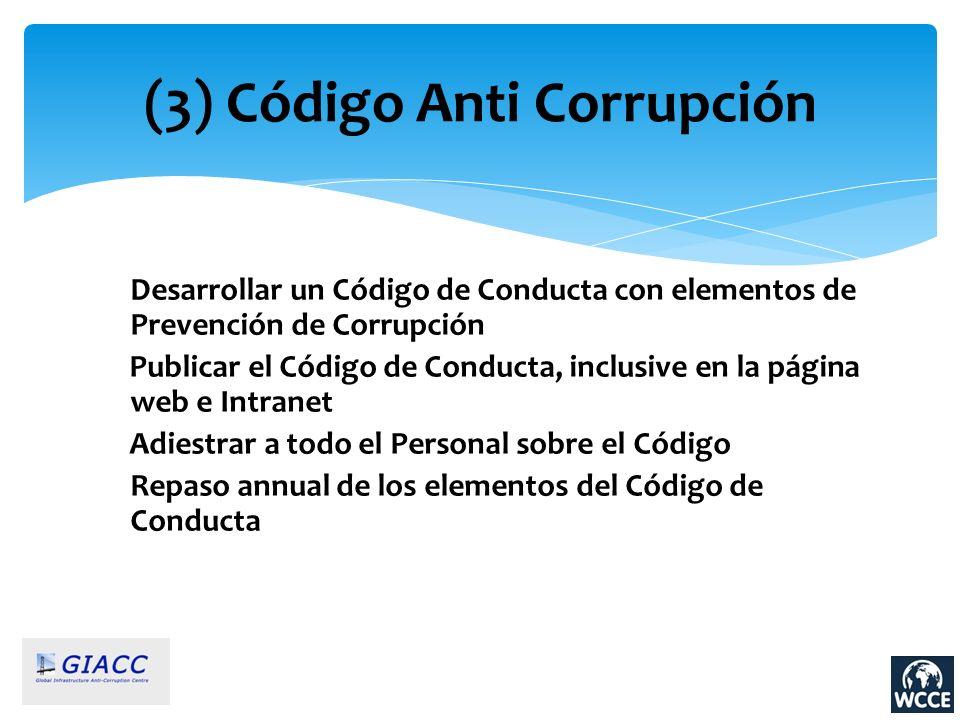 (3) Código Anti Corrupción