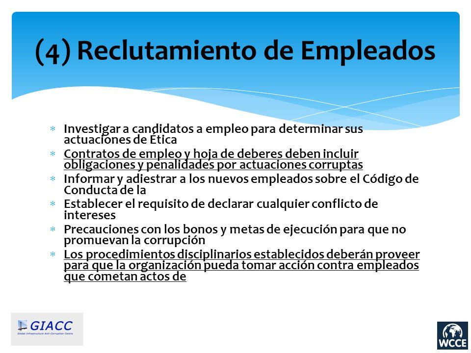 (4) Reclutamiento de Empleados