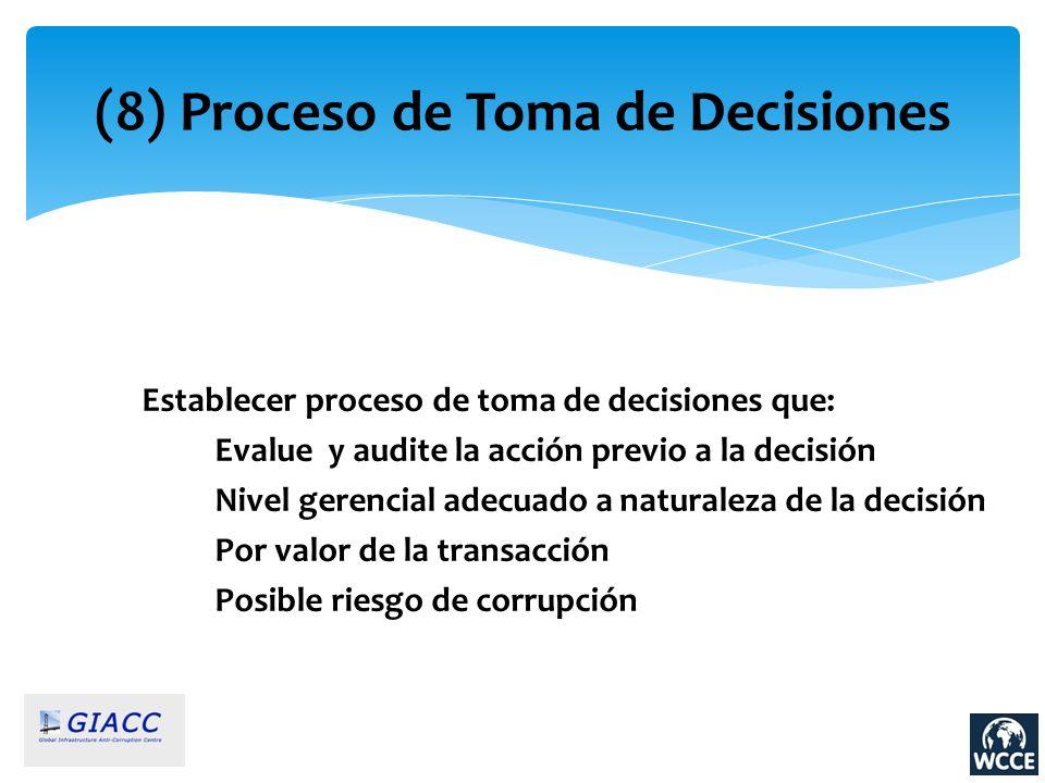 (8) Proceso de Toma de Decisiones