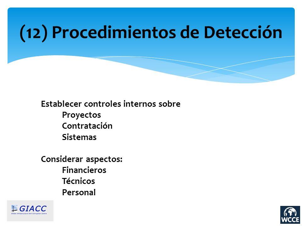 (12) Procedimientos de Detección