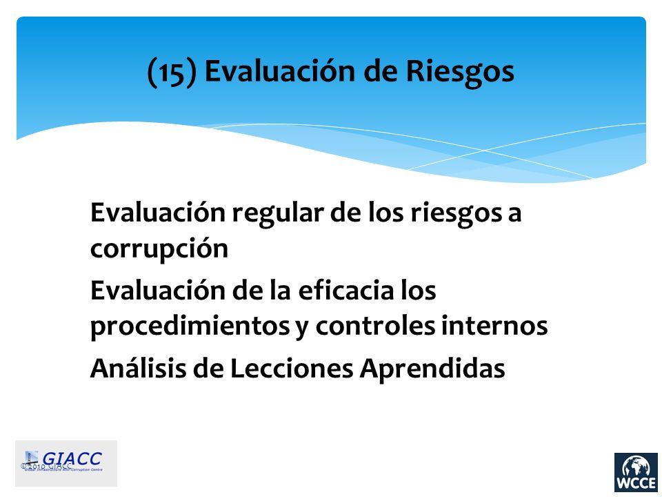 (15) Evaluación de Riesgos