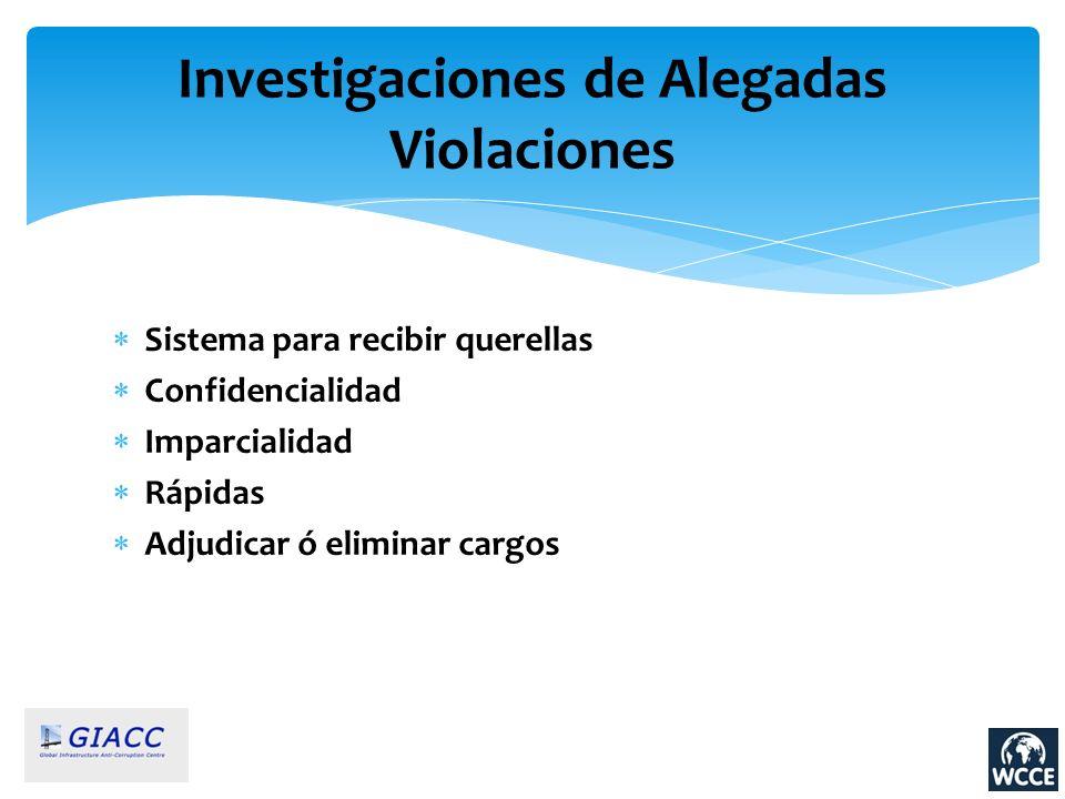 Investigaciones de Alegadas Violaciones