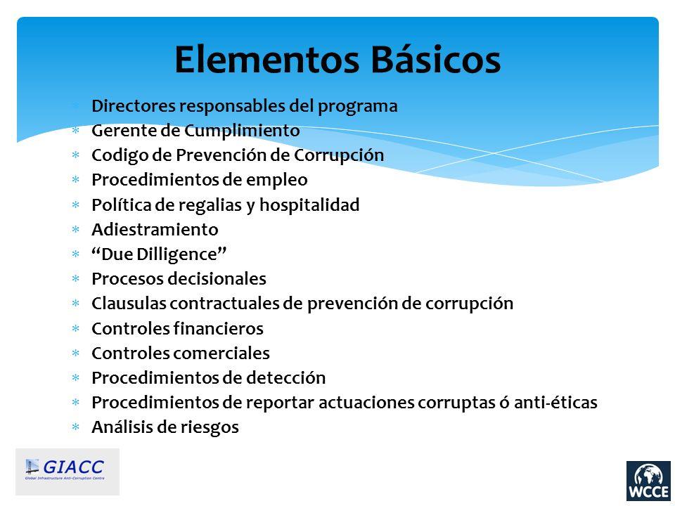 Elementos Básicos Directores responsables del programa