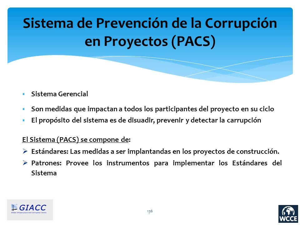 Sistema de Prevención de la Corrupción en Proyectos (PACS)