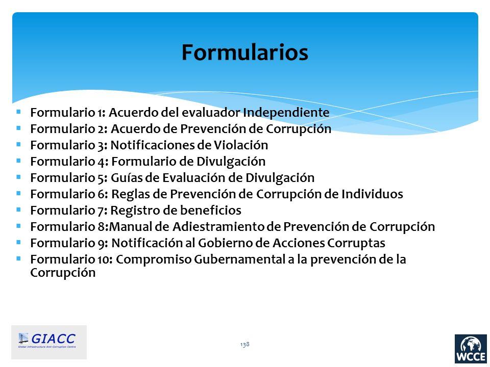 Formularios Formulario 1: Acuerdo del evaluador Independiente