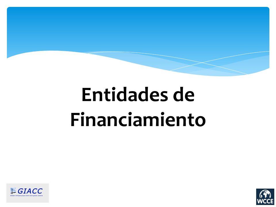 Entidades de Financiamiento