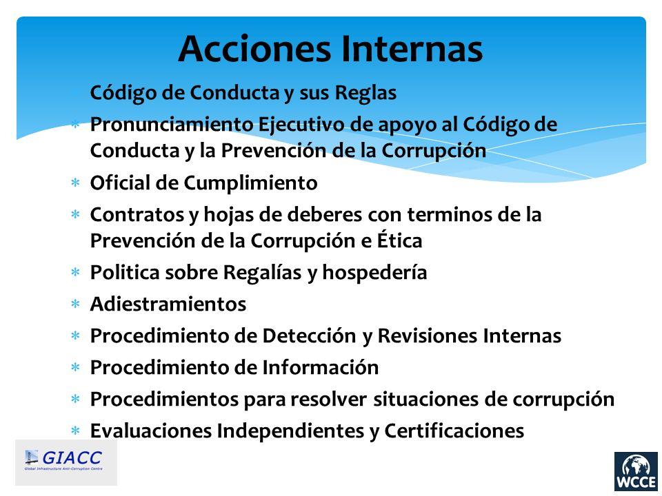 Acciones Internas Código de Conducta y sus Reglas