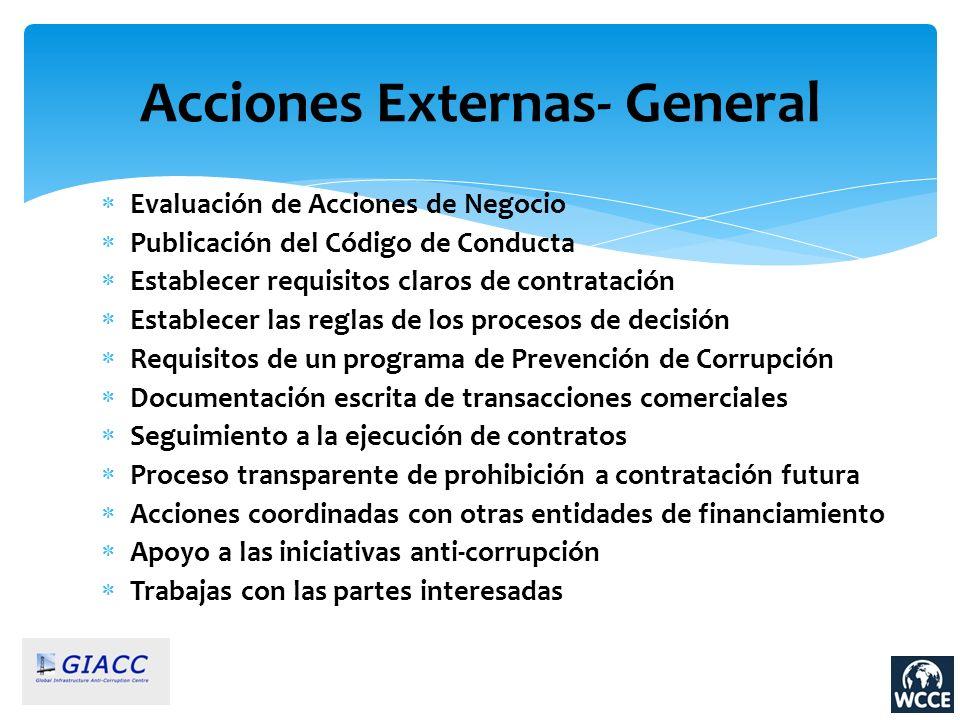 Acciones Externas- General