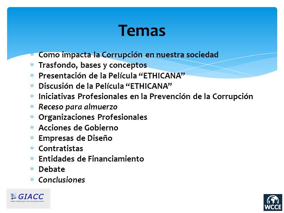 Temas Como impacta la Corrupción en nuestra sociedad