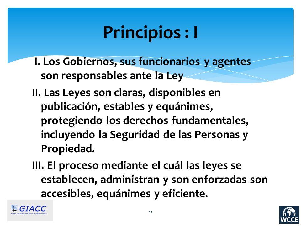 Principios : I