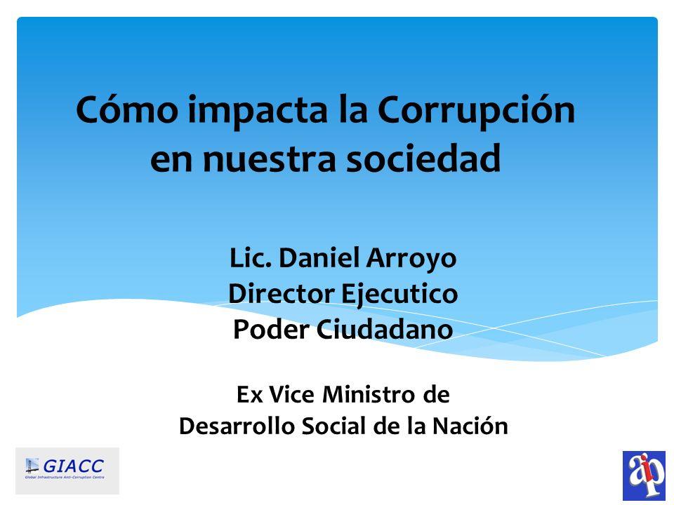 Cómo impacta la Corrupción en nuestra sociedad