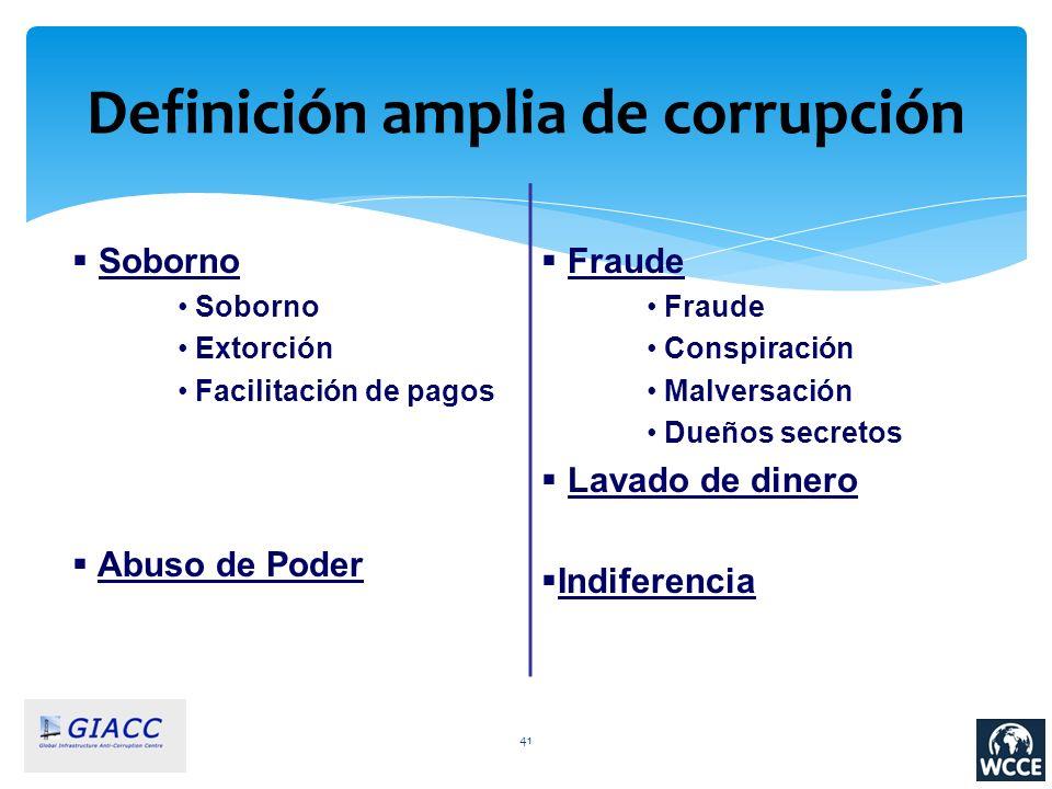 Definición amplia de corrupción