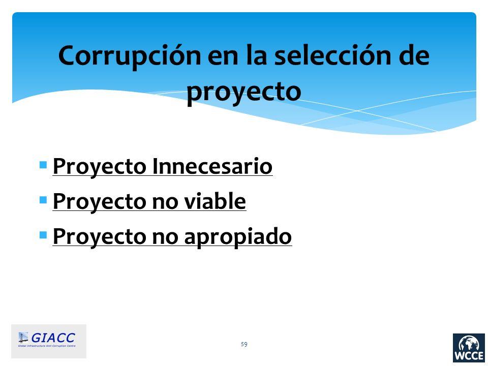 Corrupción en la selección de proyecto