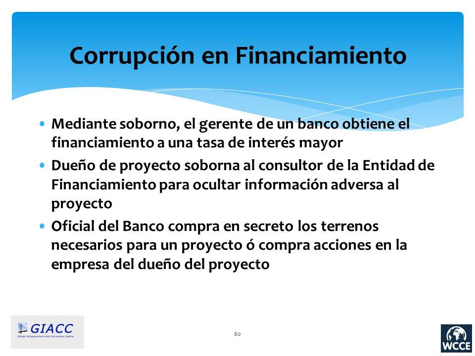 Corrupción en Financiamiento