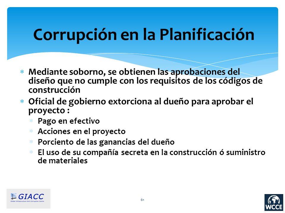 Corrupción en la Planificación
