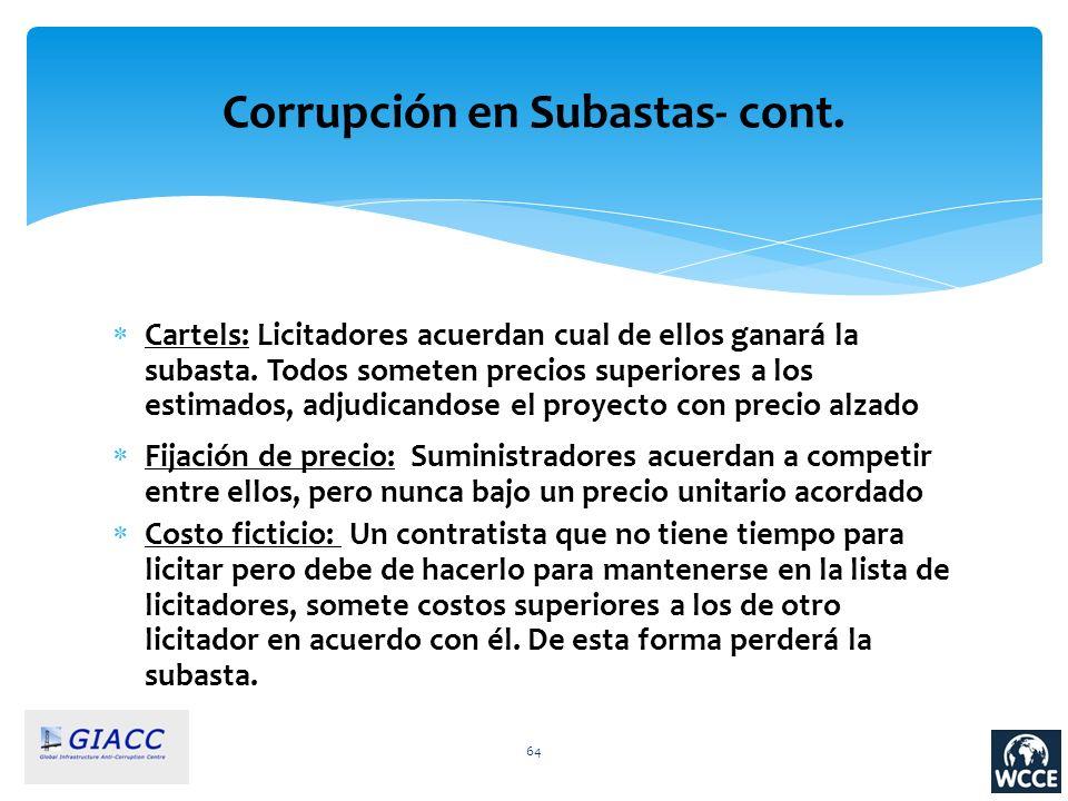 Corrupción en Subastas- cont.