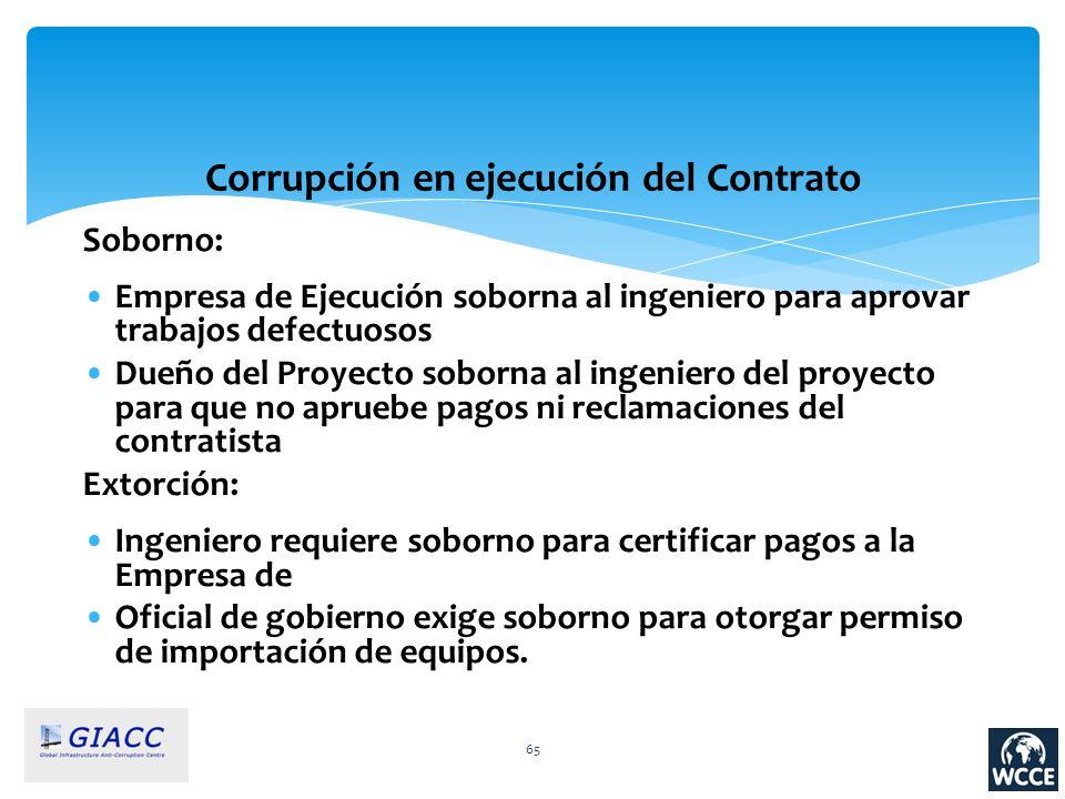 Corrupción en ejecución del Contrato