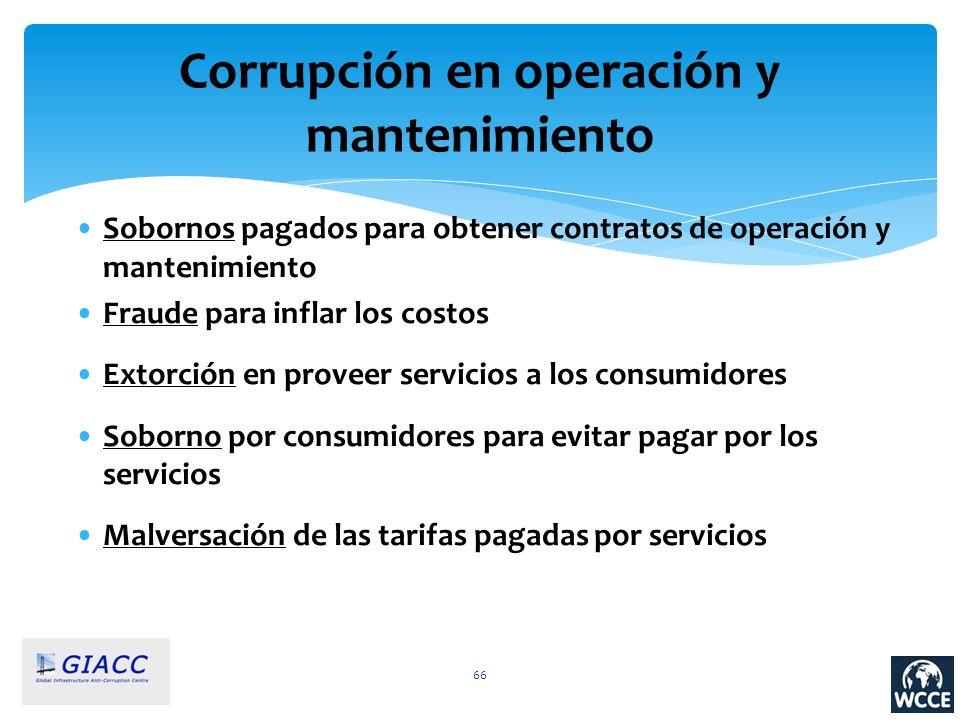 Corrupción en operación y mantenimiento