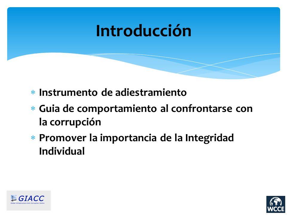 Introducción Instrumento de adiestramiento