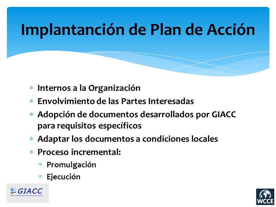 Implantanción de Plan de Acción