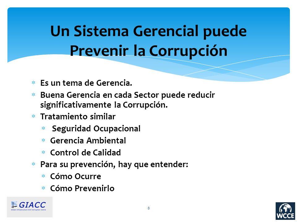 Un Sistema Gerencial puede Prevenir la Corrupción