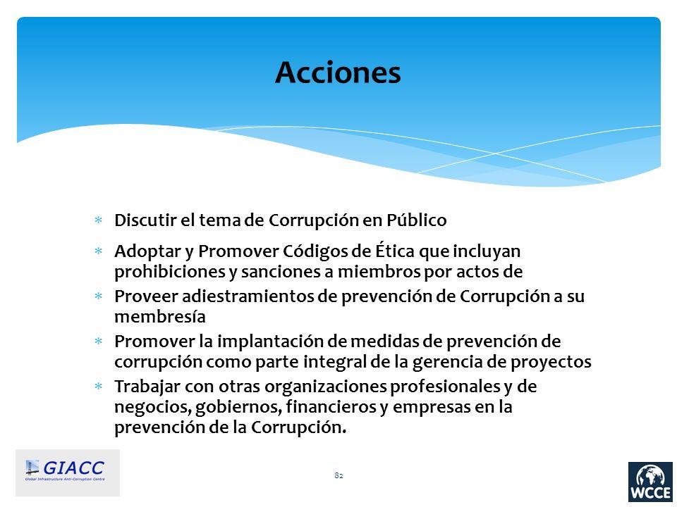 Acciones Discutir el tema de Corrupción en Público