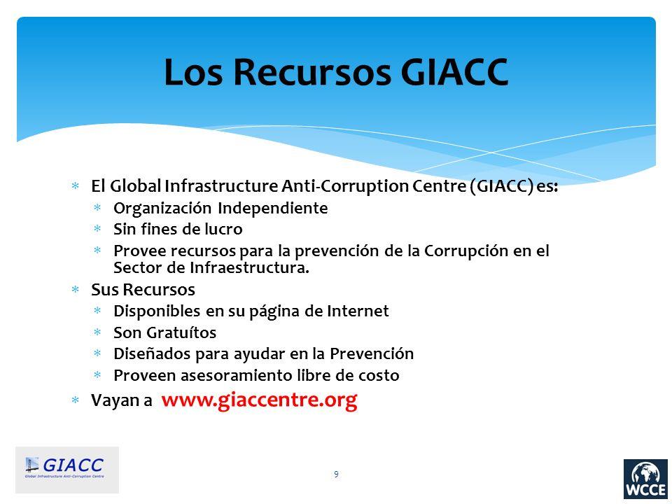 Los Recursos GIACC El Global Infrastructure Anti-Corruption Centre (GIACC) es: Organización Independiente.