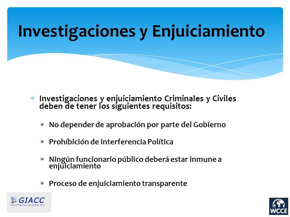 Investigaciones y Enjuiciamiento
