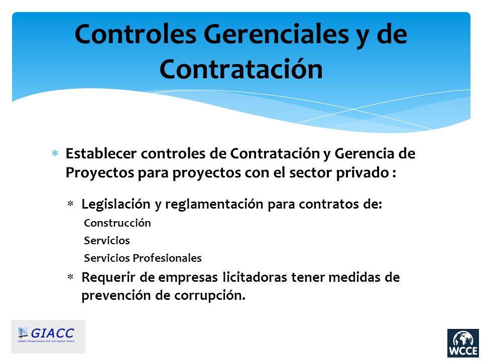 Controles Gerenciales y de Contratación