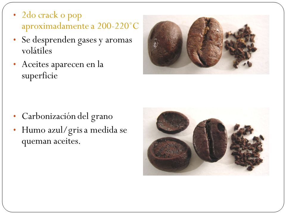 2do crack o pop aproximadamente a 200-220˚C