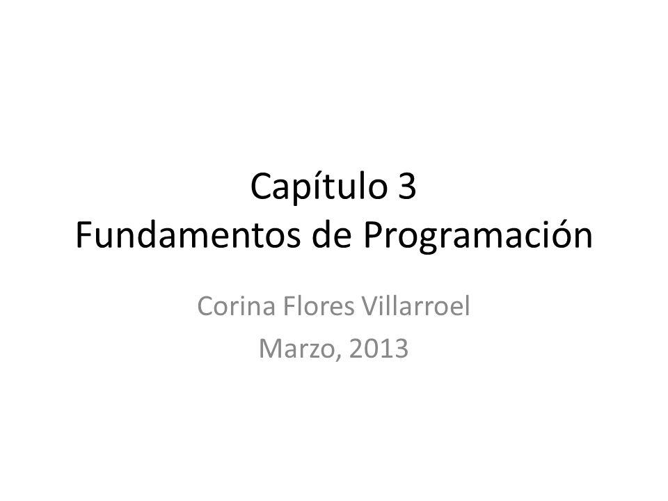 Capítulo 3 Fundamentos de Programación