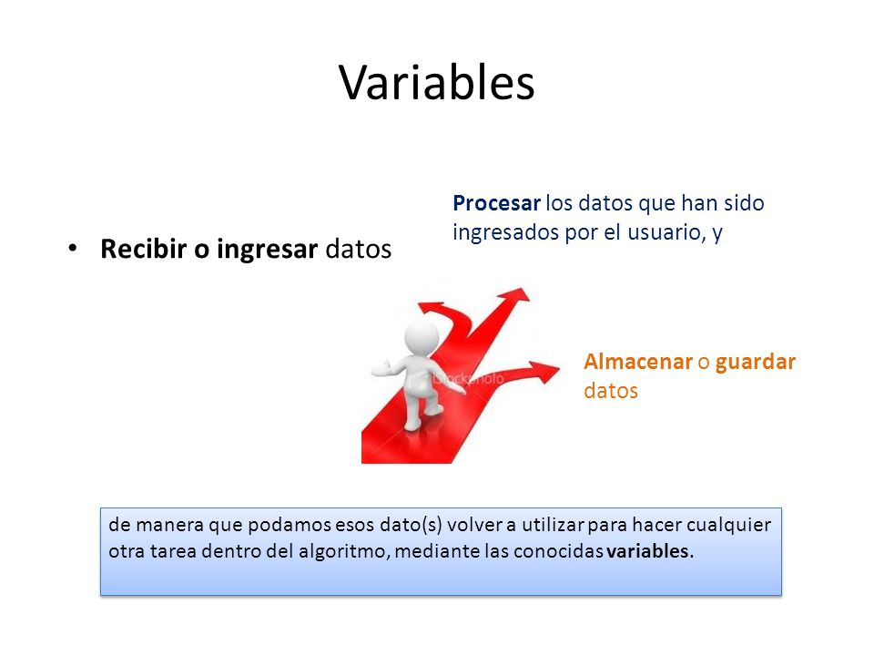 Variables Recibir o ingresar datos
