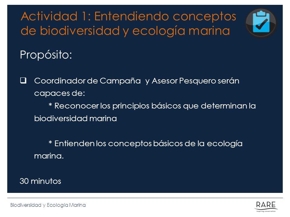 Actividad 1: Entendiendo conceptos de biodiversidad y ecología marina