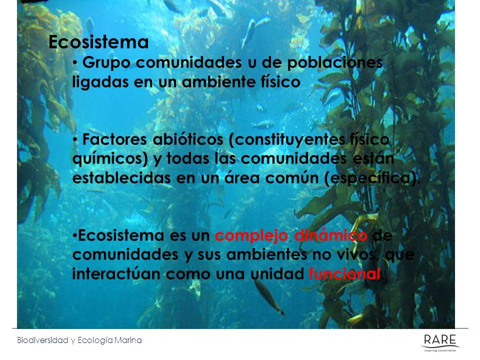 Ecosistema Grupo comunidades u de poblaciones ligadas en un ambiente físico.