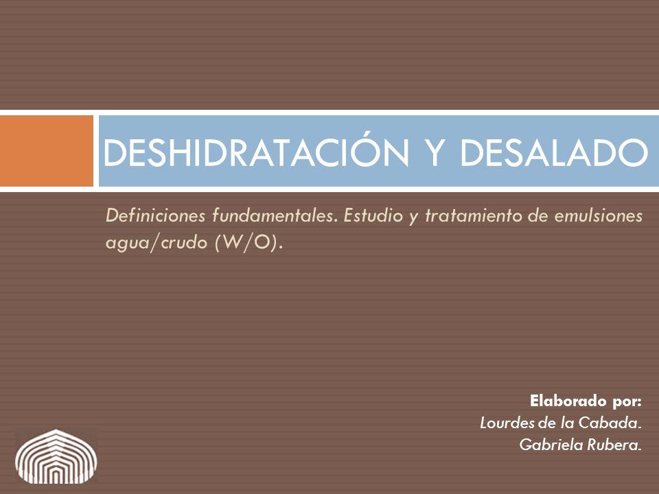 DESHIDRATACIÓN Y DESALADO
