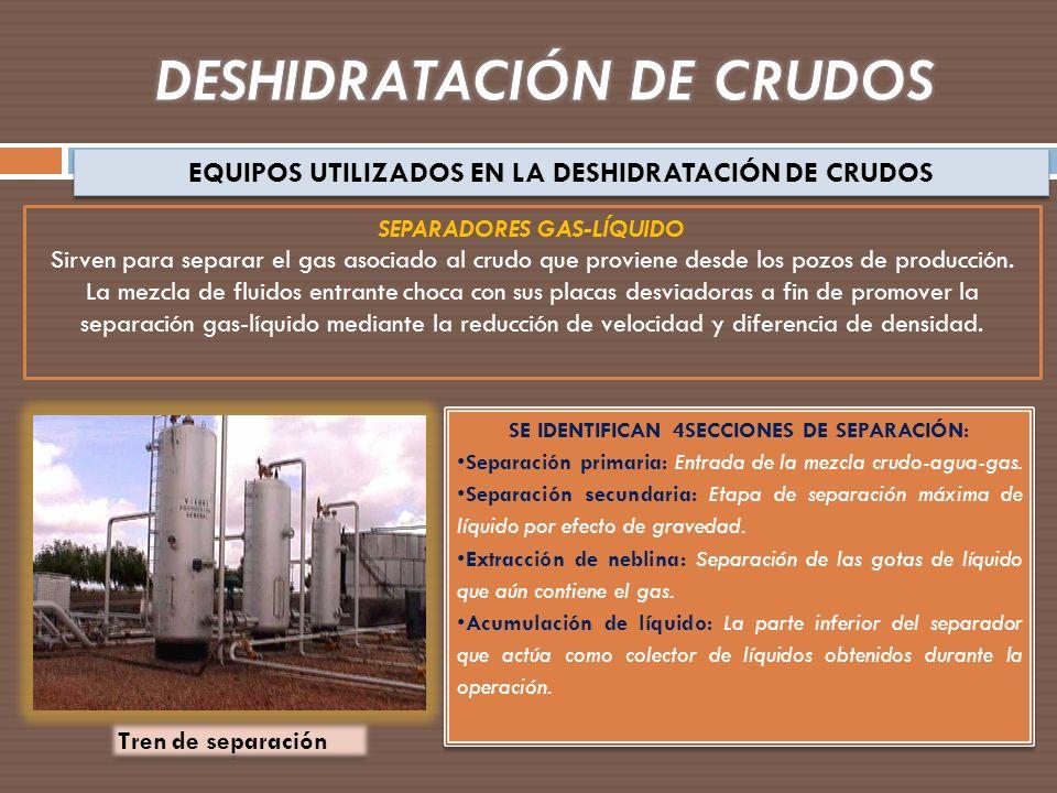 DESHIDRATACIÓN DE CRUDOS