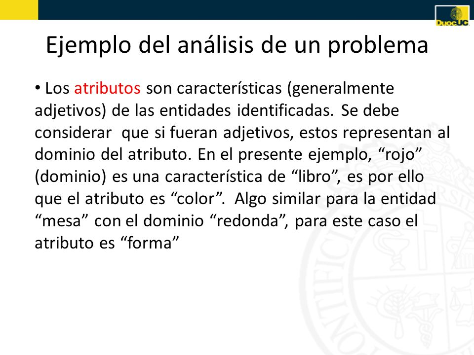 Ejemplo del análisis de un problema