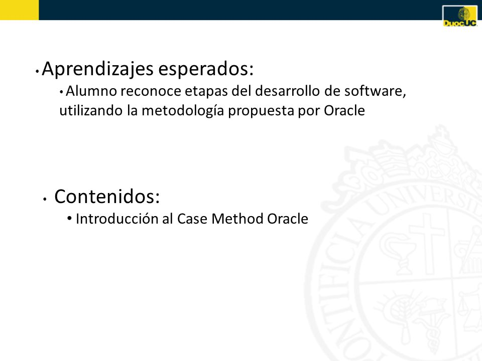 Introducción al Case Method Oracle