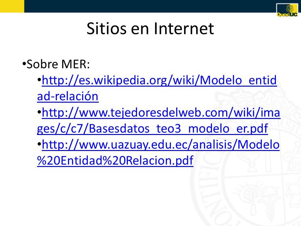 Sitios en Internet Sobre MER: