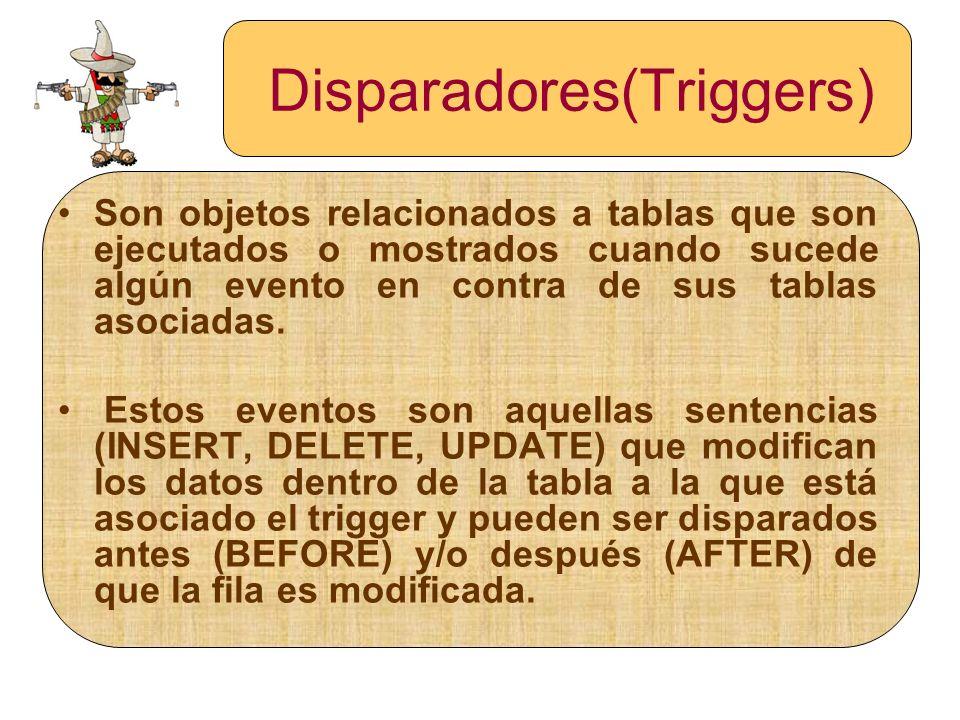 Disparadores(Triggers)