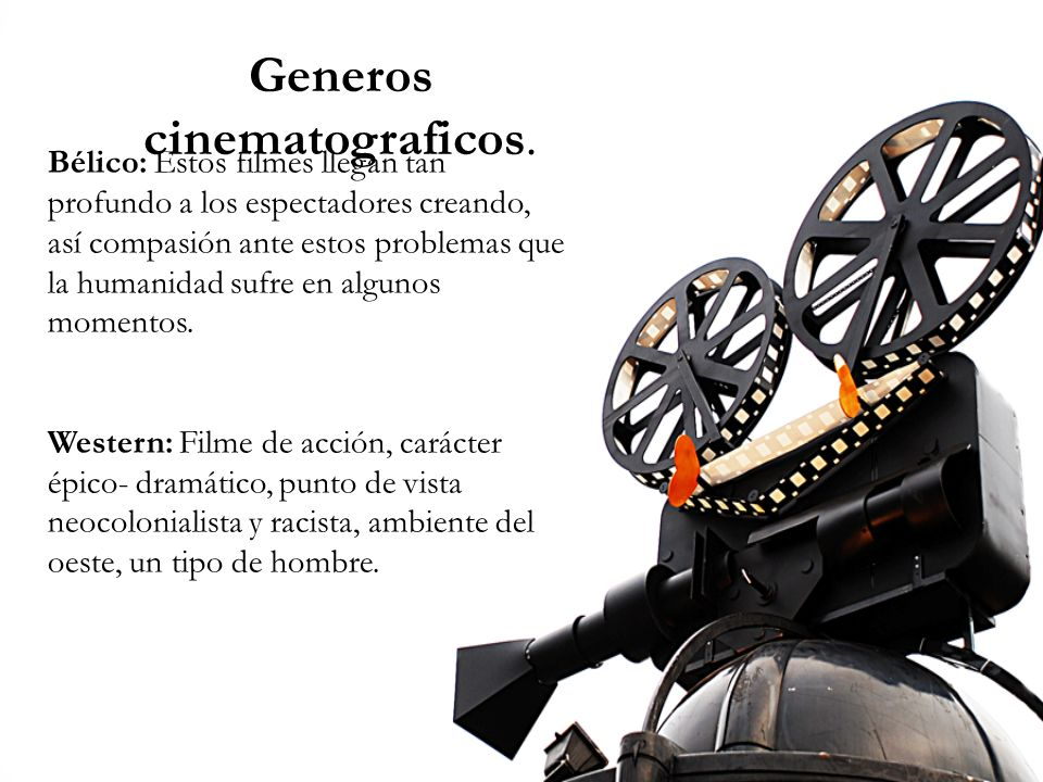 Generos cinematograficos.