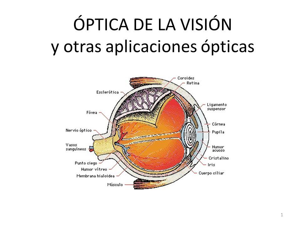 ÓPTICA DE LA VISIÓN y otras aplicaciones ópticas