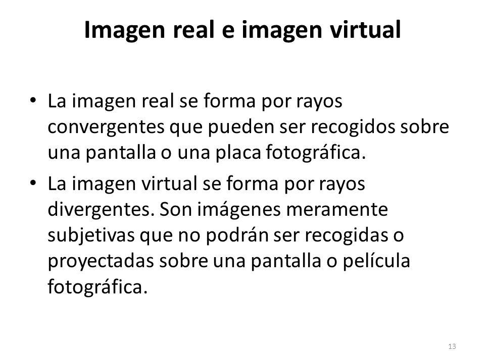 Imagen real e imagen virtual