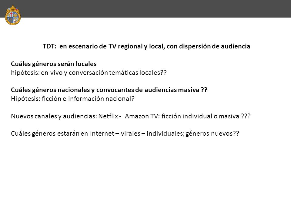 TDT: en escenario de TV regional y local, con dispersión de audiencia