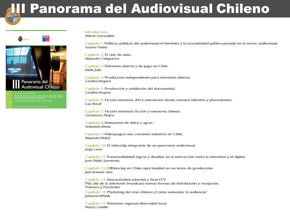 III Panorama del Audiovisual Chileno